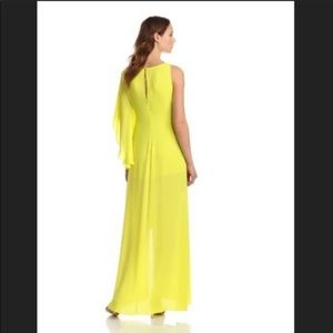BCBGMaxazaria Long dress dark lime color